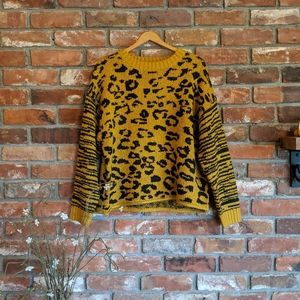 For the Republic Leopard Print Oversized Sweater